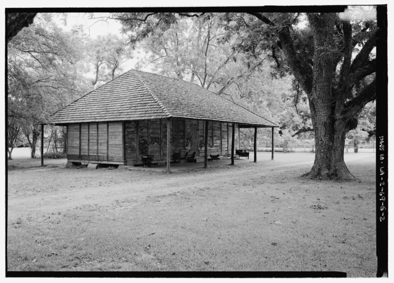 File:View from south of barn - Melrose Plantation, Creole Barn, State Highway 119, Melrose, Natchitoches Parish, LA HABS LA,35-MELRO,1E-2.tif