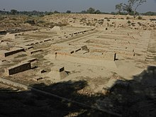 View of Granary and Great Hall on Mound F - Archaeological site of Harappa.jpg