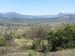 Keiskammahoek - View of Keiskammahoek from the hill