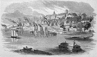 Vicksburg, Mississippi - View of Vicksburg in 1855