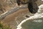 File:View of the beach from trail of Ecola State Park..ogv
