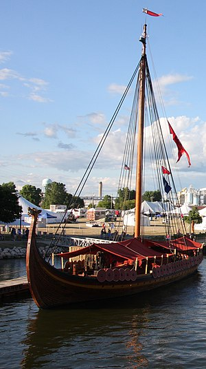 Draken Harald Hårfagre - The ship in Green Bay, Wisconsin, the westernmost point of its 2016 expedition