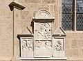 Villach Pfarrkirche hl Jakob Goerzer Kapelle Aussenwand Gruber-Epitaphien 07092015 7166.jpg