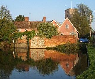 Haughley Castle castle in Suffolk, UK
