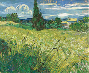 Green Wheat Field with Cypress - Image: Vincent van Gogh Green Field Google Art Project