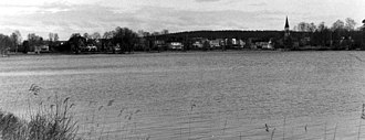 Virserum - Image: Virserum, sedd från sjön 1991