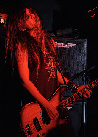 Crust punk - Vivian Slaughter of Gallhammer.
