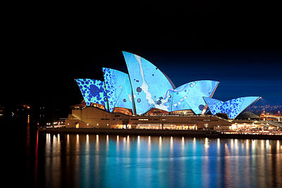 The lights of Vivid Sydney