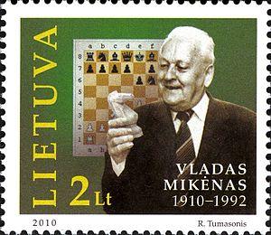 Vladas Mikėnas - Image: Vladas Mikėnas 2010 Lithuanian stamp