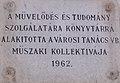 Volt Nagy Lajos könyvtár, emléktábla (1962), 2019 Kalocsa.jpg