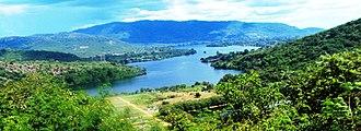 Lake Volta - Image: Volta lake from the Saint Barbara Church