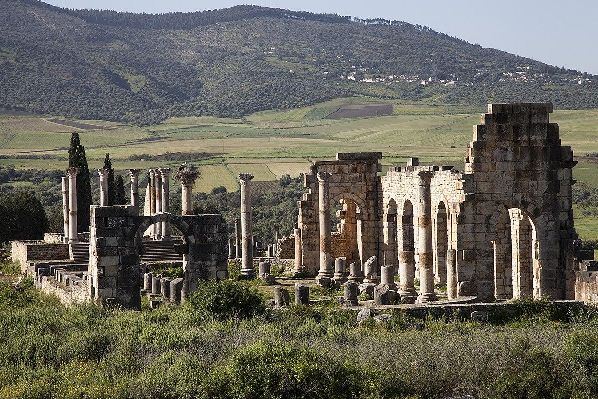 Image result for Roman Ruins of Volubilis (Meknès-Tafilalet Region)