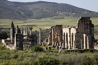 Morocco - Ancient Roman ruins of Volubilis.