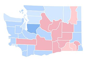 United States Presidential Election In Washington State - 1992 election us map