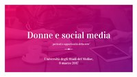 Donne e social media, 10 marzo 2017