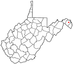 Location of Martinsburg in West Virginia