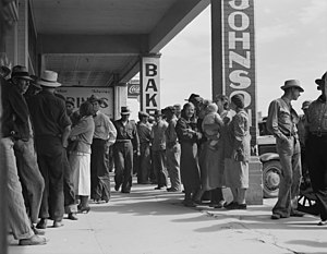 Calipatria, California - Waiting for relief checks during the Great Depression, Calipatria, California, March 1937