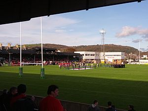 The Gnoll - Wales vs Cook Islands at The Gnoll