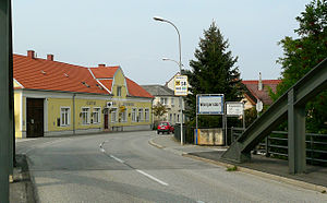 Leitha - Leitha bridge between Wampersdorf (Pottendorf municipality) in Lower Austria and Wimpassing (Vimpác) in Burgenland