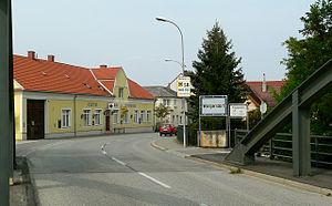 Leitha - Leitha bridge between Wampersdorf (Pottendorf municipality) in Lower Austria and Wimpassing (Vimpác) in Burgenland