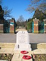 War Memorial outside the entrance to West Drayton cemetery - geograph.org.uk - 1754149.jpg