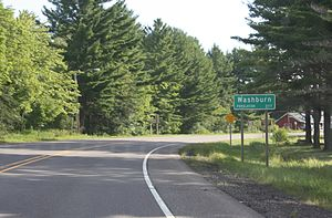 Washburn, Wisconsin - Image: Washburn Wisconsin Sign WIS13