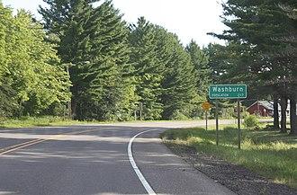 Washburn, Wisconsin - Image: Washburn Wisconsin Sign WIS13