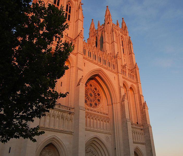 File:Washington National Cathedral at dusk.JPG