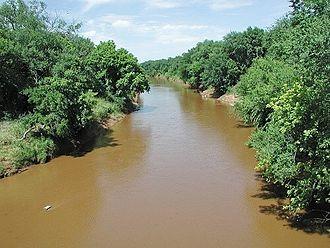 Washita River - The Washita River at Anadarko, Oklahoma
