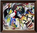 Wassily kandinsky, dipinto con forma bianca, 1913, 01.jpg