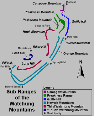 watchung reservation trail map with Mountain Ranges Of Maine on Sourland Mountain Perserve Somerset Nj in addition Watchung Reservation Union County Nj also Watchung Mountains moreover Index furthermore Deserted Village Of Feltville.