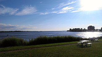 LaSalle, Quebec - Saint Lawrence River seen from LaSalle Blvd. bicycle path.