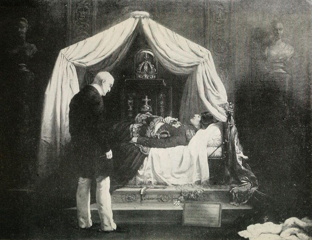 Wellington Visiting the Effigy of Napoleon.jpg