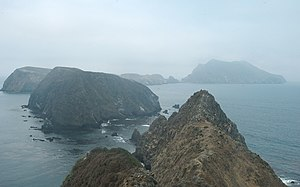 Anacapa Island - Middle and West Islets of Anacapa Island.