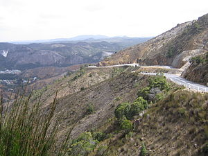 Lyell Highway - Lyell Highway descending towards Queenstown