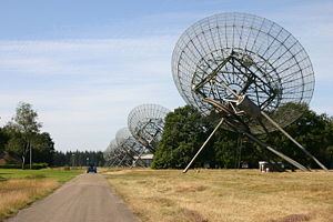 Westerbork Synthesis Radio Telescope - WSRT in operation in 2006