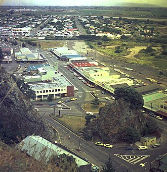 Radio Bay of Plenty - The Strand in Whakatane, about four years after the station started in 1971.