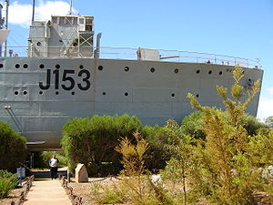 Whyalla - HMAS Whyalla, a locally built World War II-era corvette