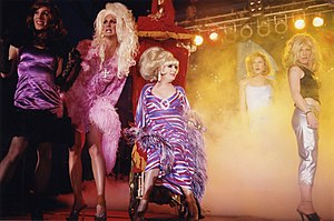 Wigstock - Lady Bunny and other performers during Wigstock 2000 at Pier 54, New York City. Photo by Jerome Albertini.