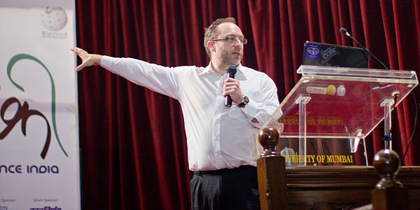 WikiConference India 2011 Jimmy Wales 3.jpg