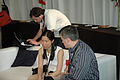 Wikimania 2009 - Michael Snow chatting.jpg