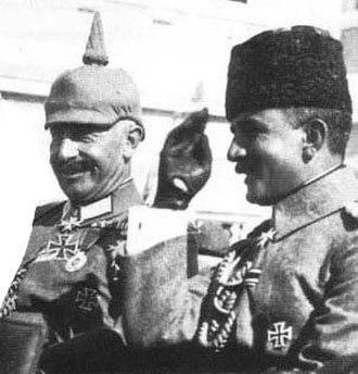 Enver Pasha - Wilhelm II and Enver Pasha in 1917