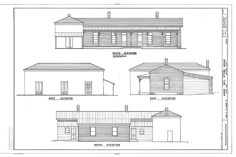 File:Will Stone House, Ford and Adams Streets, Eagle Pass, Maverick County, TX HABS TEX,162-EAPA,5- (sheet 3 of 3).tif