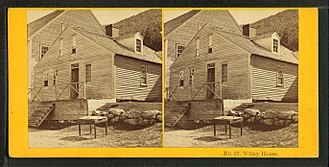 Willey House, New Hampshire - A stereoscopic slide of the Willey House by Kilburn Brothers, ca. 1872
