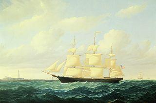 Dashing Wave Clipper Ship off Boston Light