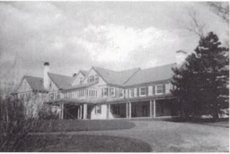 Elizabeth Wade White - William Henry White (1876–1952)'s house, Breakneck Hill, Middlebury, Connecticut. The house was sold at Will White's death and razed down.