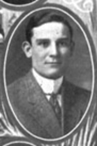 Bud Saunders - Saunders pictured as a senior in Savitar 1911, Missouri yearbook