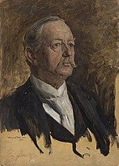 Portraitstudie Adolf Engler. Entwurf zu dem verschollenen Gemälde \