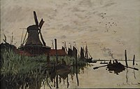 Windmill and Boats near Zaandam, Holland, by Claude Monet, 1871 - Ny Carlsberg Glyptotek - Copenhagen - DSC09437.JPG