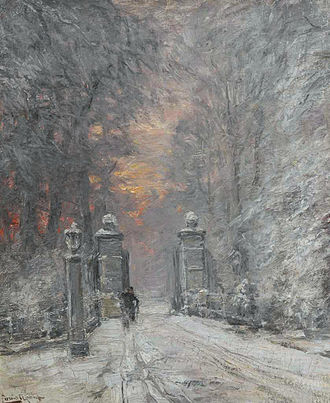 Louis Apol - Winter, oil on canvas